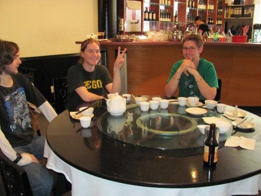 Aran, Brin and Andre at the Yum Cha lunch we had at