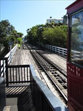 Looking up the track of the Wellington Cable Car. We got off at this stop.: by locomocean, Views[233]