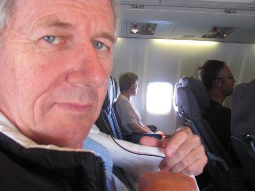 Greg can hardly believe it - we've left New Zealand!