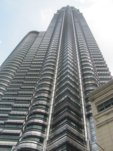 One of the Petrona twin towers - shrouded in stainless steel and glass