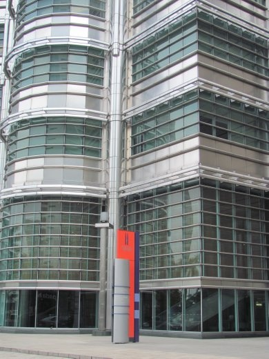Base of one of the Petrona Towers