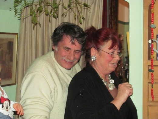 Our lovely hosts Dave and Sue on Boxing Day.