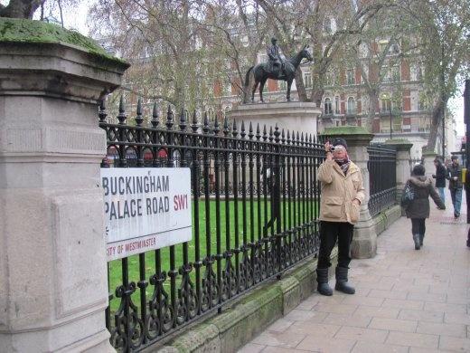 Wandering down Buckingham Palace Road