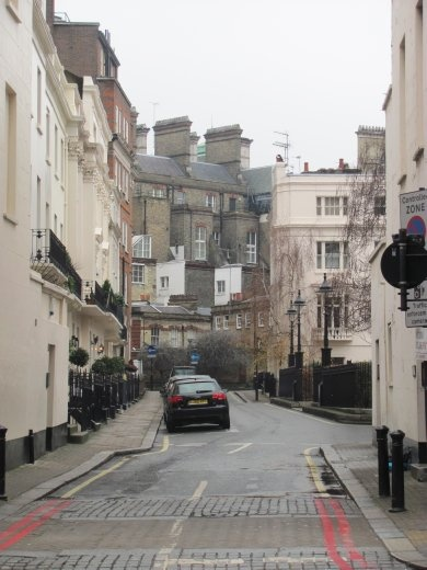 Looking down the side-roads in this part of London