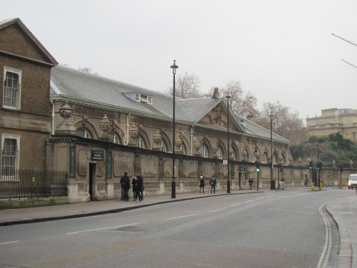 The Royal Mews, where the Queen has her stables.