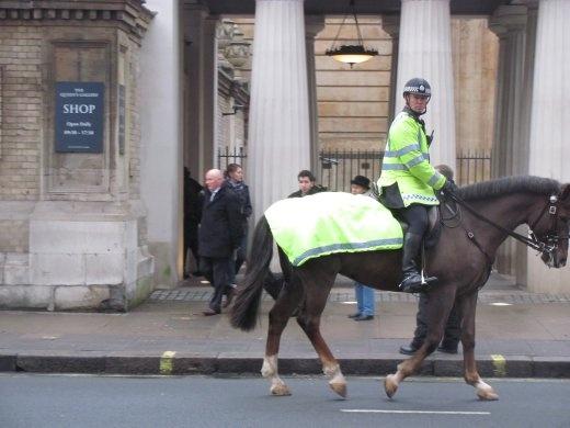 Mounted policeman outside the Royal Mews