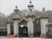 Buckingham Palace gates. It was a bit of a dreary day - but we did go right in the middle of winter!: by locomocean, Views[116]