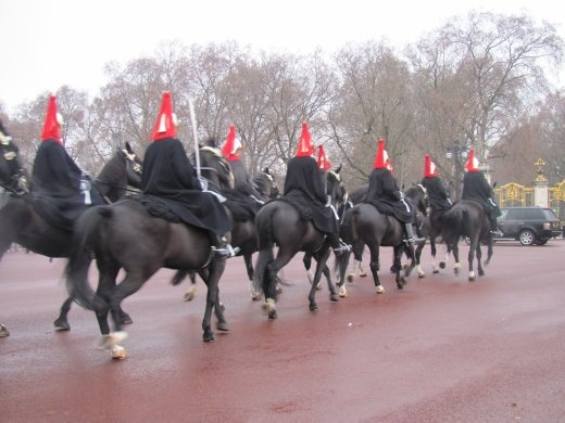 The Queen's Horsed Guards, putting on a display for us.