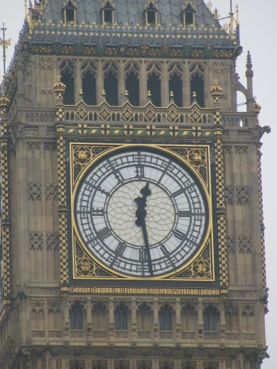 Big Ben's face is delightfully ornate