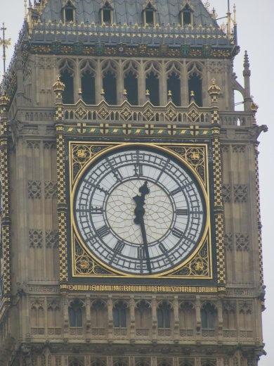 Big Ben's face is delightfully ornate