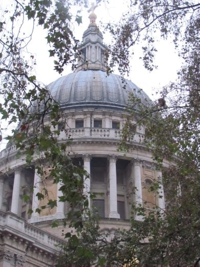 Closer view of St Paul's Cathedral dome