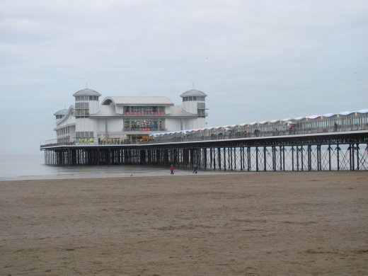 The newly rebuilt pier at Weston-super Mare - after it was burnt down a couple of years ago.