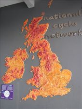 Map showing the extensive cycle paths around Britain.: by locomocean, Views[93]