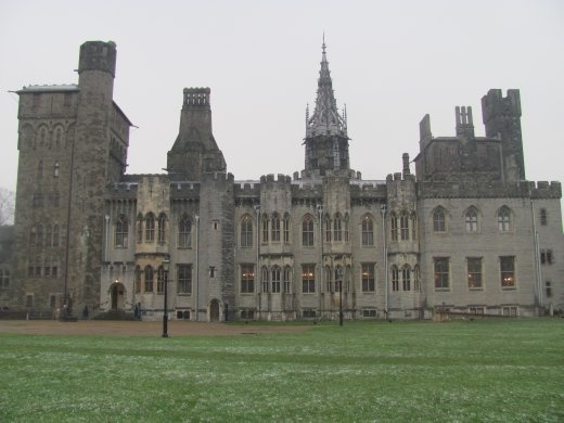 The grand Mansion House of Cardiff Castle, that has been added onto over the centuries.