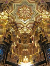 The ceiling of the arabic room in the Cardiff Castle Mansion House - absolutely stunning!: by locomocean, Views[791]