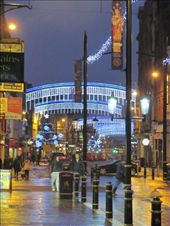 More festive lights in the street opposite the Cardiff Castle main gates.: by locomocean, Views[158]