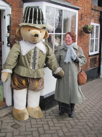 'Babs' and Bear - outside the Teddybear museum