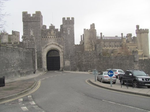 The upper gates of the Arundel Castle