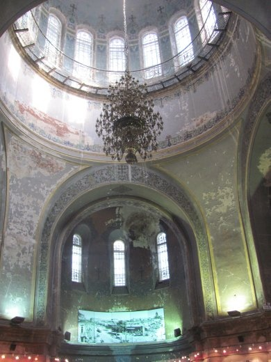 Inside the Sophia Church it is in need of some renovation, but still looks lovely - it's now an art gallery