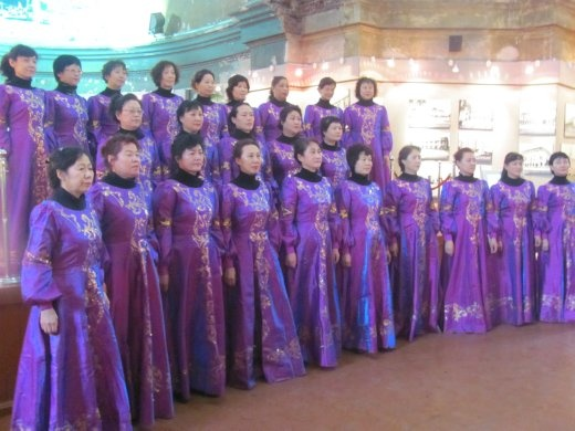 The choir that did a performance inside Sophia Church whilst we were there - then dragged us up to have photos taken with them!