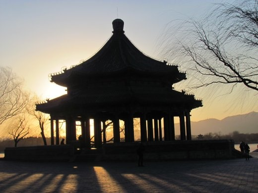 One of many pavillions that are dotted around the grounds of the Summer Palace