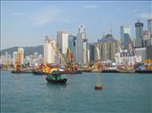 It's a hive of activity with barges and cranes buzzing around the Hong Kong harbour: by locomocean, Views[186]
