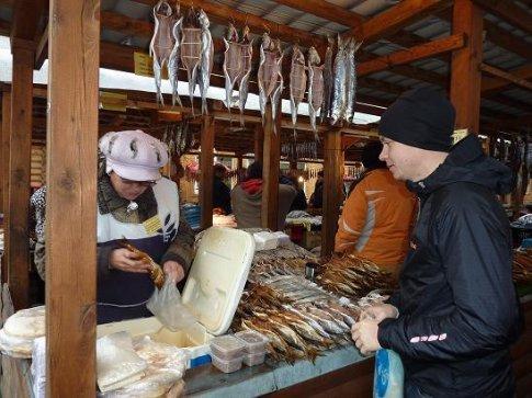 Fish stall by the Baikal lake