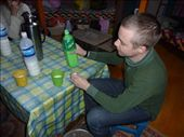 Drinking Airag - fermented horse milk: by lol, Views[751]
