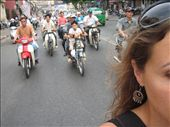 Riding the moto through Saigon traffic...good times.: by lolo, Views[447]