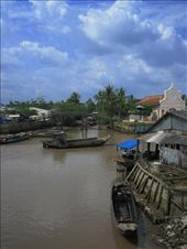View from the bridge...a scene from the Mekong Delta.: by lolo, Views[374]