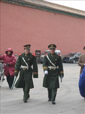 Two guards within the Forbidden City, marching towards me.: by lolo, Views[273]
