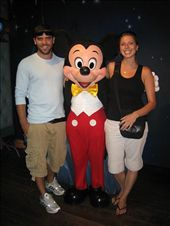Ah, the reason for Disneyland.  My photo with Mickey Mouse.: by lolo, Views[375]