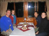 Dinner ~ mmmmm, WINE ~ on the boat with Claire and Brendon. MOM ~ fyi ~ this is the couple I fwd. the cookie recipe to!  : by lolo, Views[560]