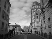 Montmartre - i am in love with black and white - looking back on this, i wish i'd taken more pictures because Paris is gorgeous - but i only had eyes for a certain someone while i was there - next time, for sure!: by lolo, Views[625]