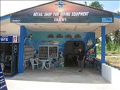 Blue Planet shop in Saladan - with Lo out front.: by lolo, Views[1436]