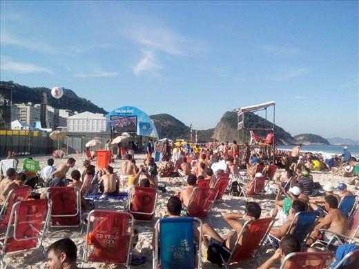 El mundial Brasil 2014 se vive en las playas