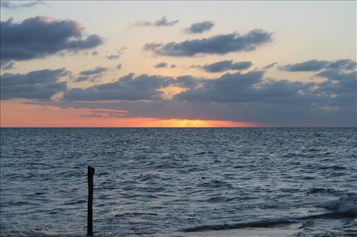 Atardecer en el Golfo de México desde la Ciudad de Campeche