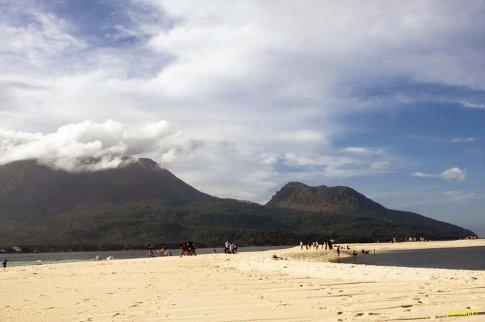 Mt. Hibok-hibok and Mt. Vulcan viewed from the white island