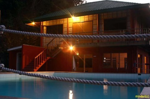 The Outrigger Diving Resort at night