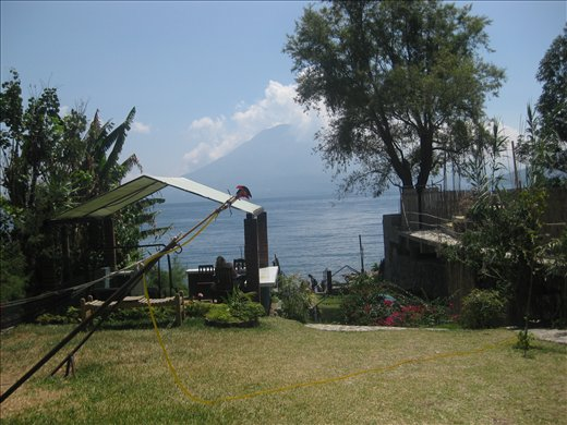 view of the lake from our hostel