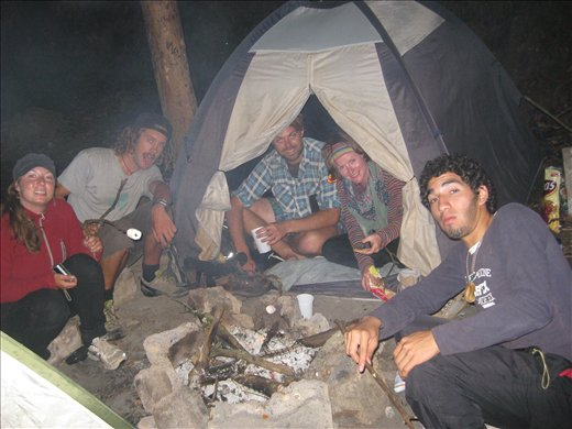 Camping with our Hondurian mate in the Hills