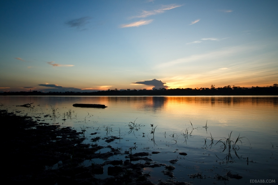 The oxbow lake of Yarina Cocha is only a few miles from Pucallpa (referred to by author Tom Robbins as the