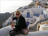 Back to Oia to enjoy the sunset, thought we would toast to it with some of the local rose!: by loza3210, Views[135]