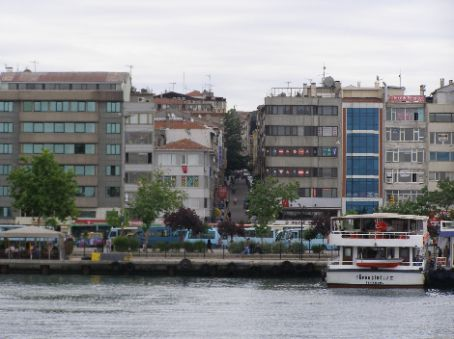 Taking a local boat along the Bosphorus