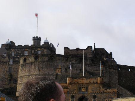 Edinburgh castle dominates the skyline