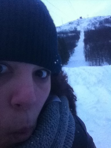Just rolled down the ski slope!