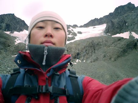 I made it to the glacier!!!! It was a very difficult climb