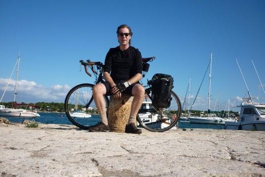 A random shot of me in Majorca with my lightweight tourer before flying back to Tokyo.
