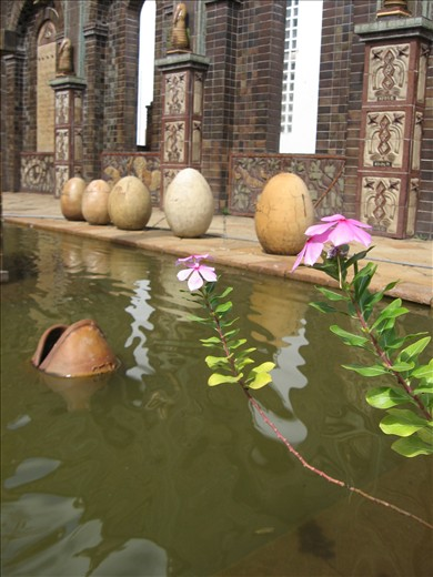 At a museum that hosts works of Francisco Brennand, the rural coastline is mirrored in this beautiful reflecting pool.