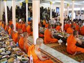 Monks pray for deceased relatives to transmit those meals to their spirits: by m_raquelh, Views[246]